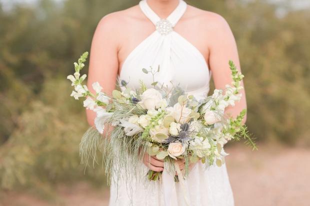 Tucson Arizona rustic winter wedding flowers