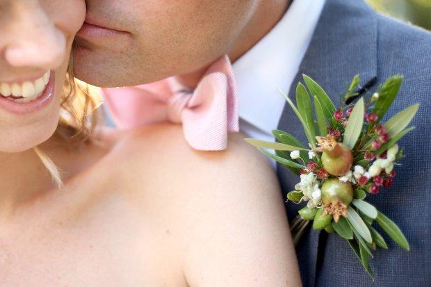 Tucson bride and groom - garden boutonniere
