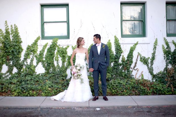 Tucson bride and groom - Soft, romantic garden style bridal bouquet