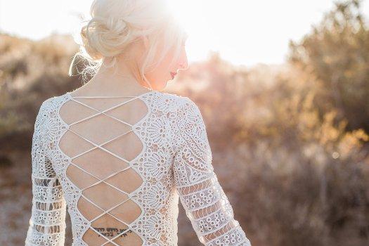 desert boho bridal gown