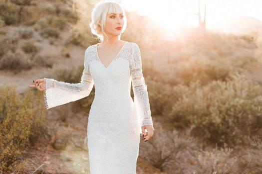 desert bridal gown