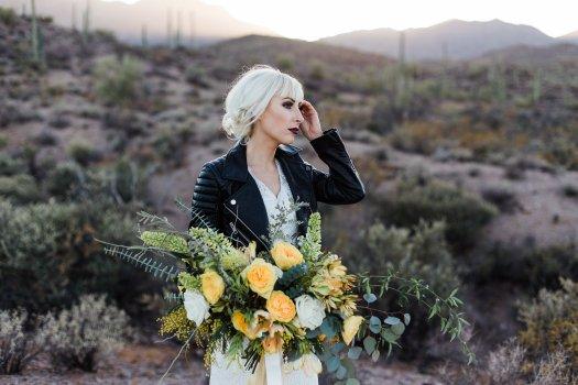 edgy boho western bride