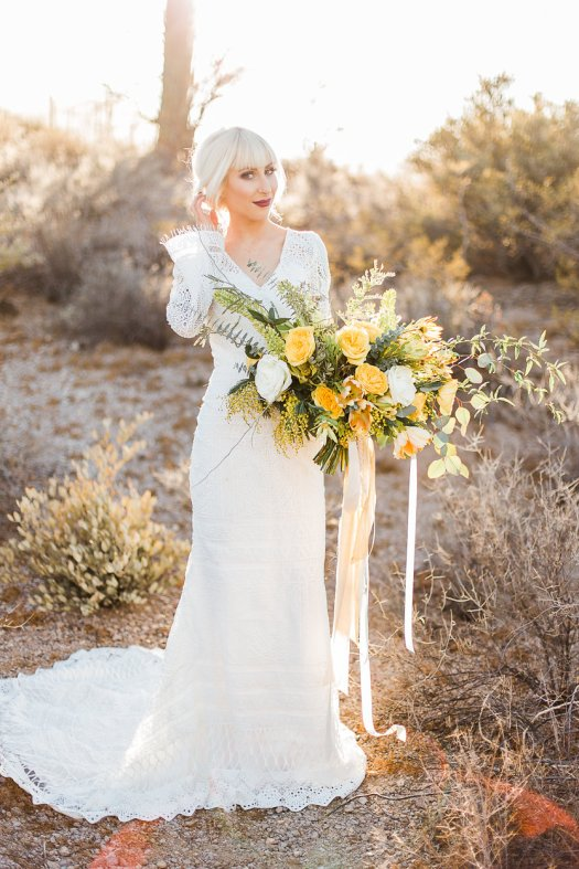 AZ desert yellow boho bouquet